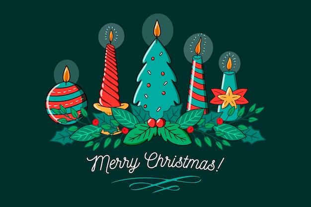Różne wzory wesołych świątecznych świec