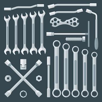 Różne zestawy kluczy