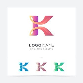 Różnica logo streszczenie kreatywnych list