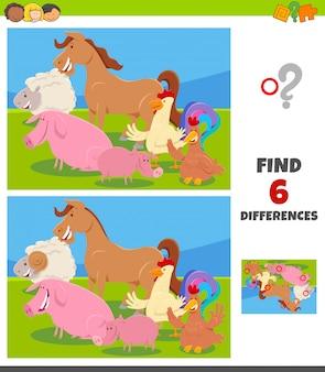 Różnice gra z postaciami zwierząt gospodarskich