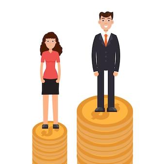 Różnice płci, różnice biznesowe i dyskryminacja, mężczyzna kontra kobieta, koncepcja nierówności.