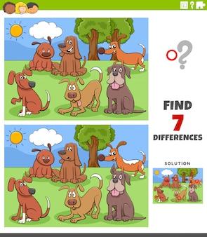 Różnice zadania edukacyjnego z grupą psów rysunkowych