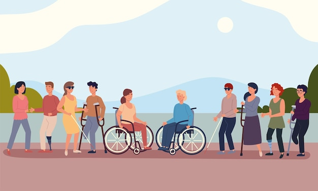 Różnorodni niepełnosprawni