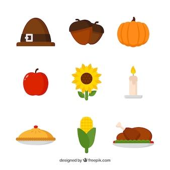 Różnorodność elementów dziękczynienia
