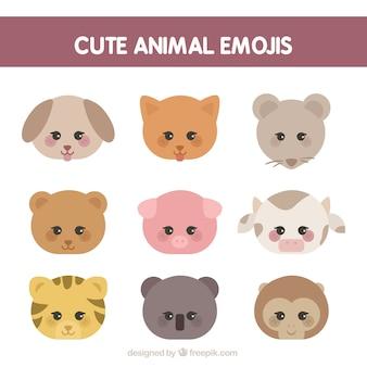 Różnorodność emotikony zwierząt