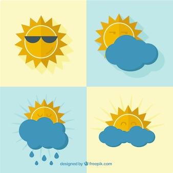 Różnorodność ikon pogodowych