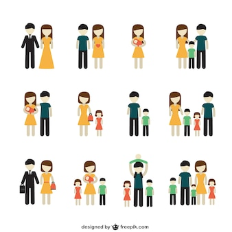 Różnorodność ikony rodziny