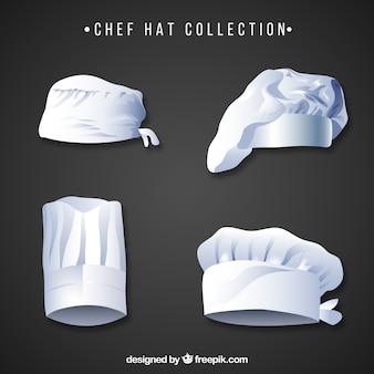 Różnorodność kapeluszy kucharza