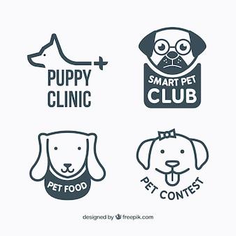 Różnorodność logo psów
