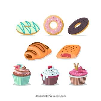 Różnorodność słodyczy ilustracji