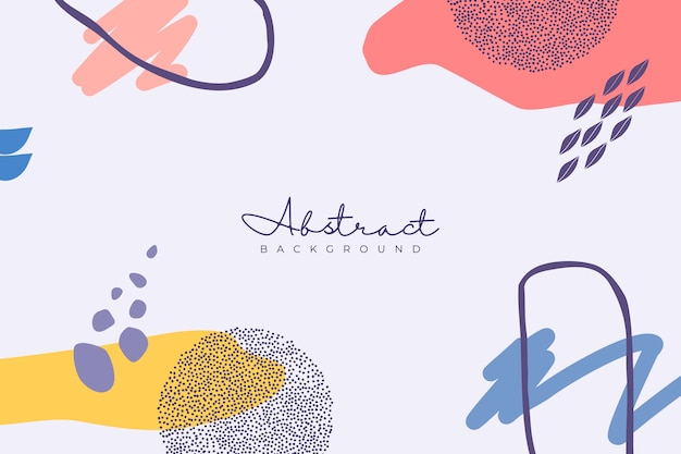 Różnorodność uroczych kształtów i abstrakcyjne tło