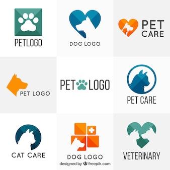 Różnorodność weterynarza szablony logo