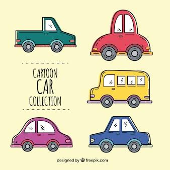 Różnorodność wielkich pojazdów kreskówek