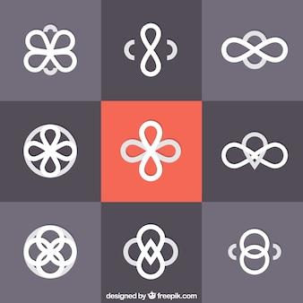 Różnorodność współczesnych abstrakcyjnych symboli