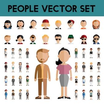Różnorodność wspólnoty płaska konstrukcja ikony koncepcja