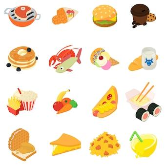 Różnorodność zestaw ikon żywności