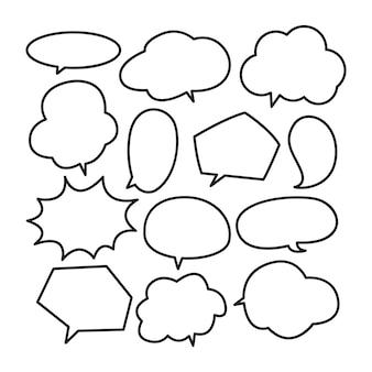 Różny śliczny mowy bąbla doodle