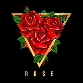 Różowa czerwona ilustracja t-shirt