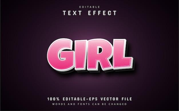 Różowa dziewczyna efekty tekstowe
