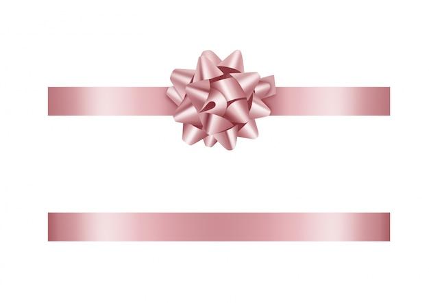 Różowa kokardka i wstążka