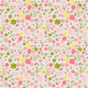 Różowa kwiecista sprink bezszwowa deseniowa wektorowa ilustracja