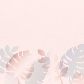 Różowa letnia karta