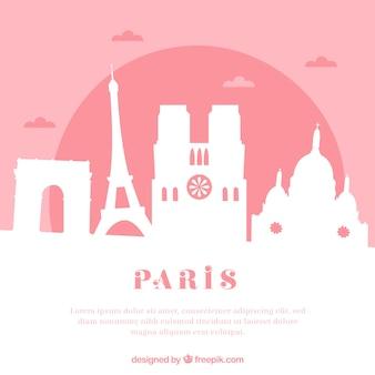 Różowa linia horyzontu paris