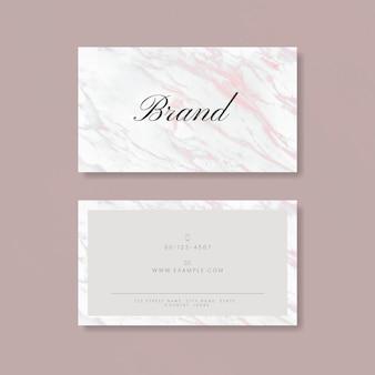 Różowa marmurowa wizytówka