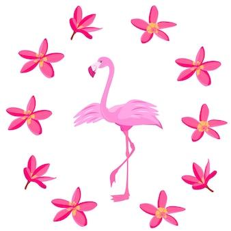 Różowa miłość flamingo walentynki tropikalny ptak rajski ptak ilustracji wektorowych
