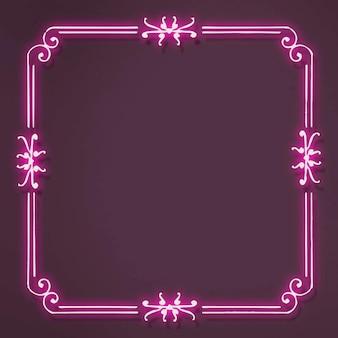 Różowa neonowa filigranowa ramka