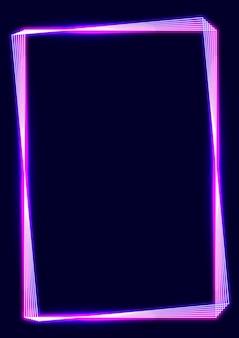 Różowa neonowa ramka na ciemnym tle