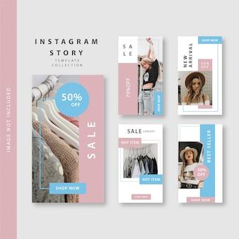 Różowa niebieska historia na instagramie