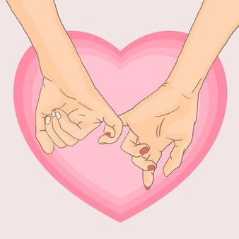 Różowa obietnica o różowym kształcie serca