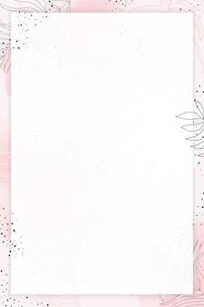 Różowa prostokątna ramka akwarelowa