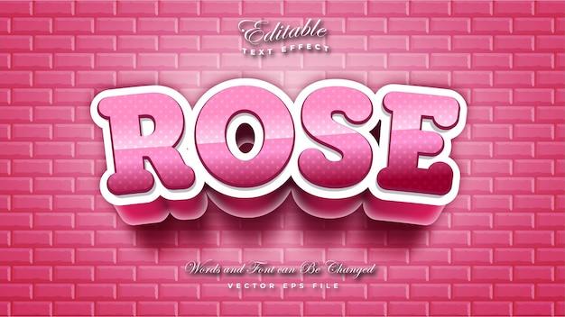 Różowa róża efekt tekstowy