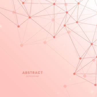 Różowa sieć neuronowa ilustracja