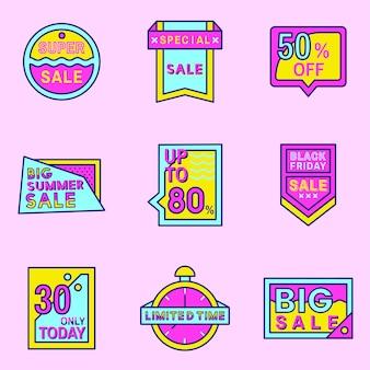 Różowa sprzedaż odznaka projekt