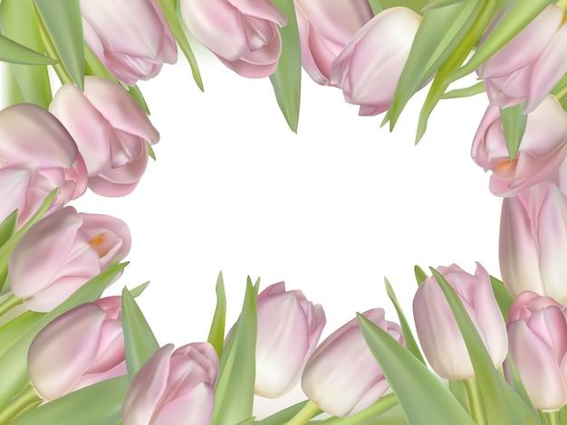 Różowa świeża wiosna kwitnie tło.