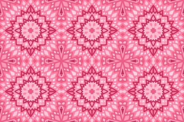 Różowa sztuka z abstrakcyjnym wzorem bez szwu płytek