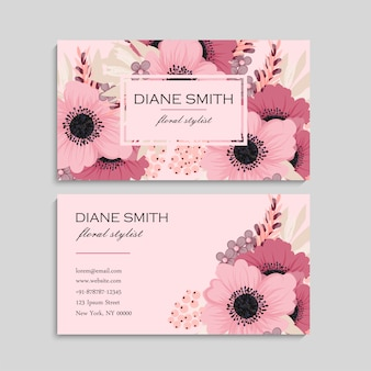 Różowa wizytówka