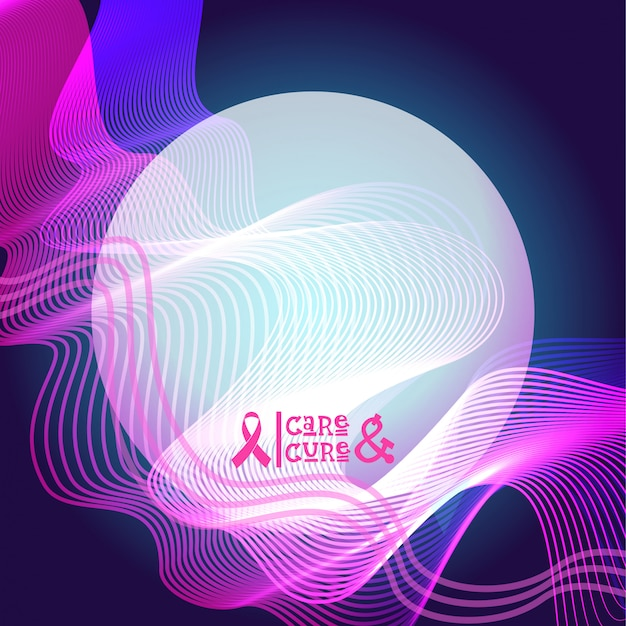 Różowa wstążka banner świadomości raka piersi