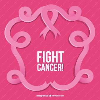 Różowa wstążka ozdobna świecie rak dni