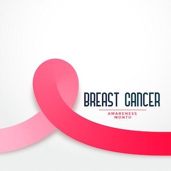 Różowa wstążka świadomości raka piersi tło miesiąca