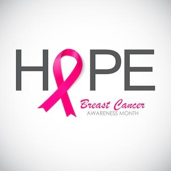 Różowa wstążka świadomości raka piersi