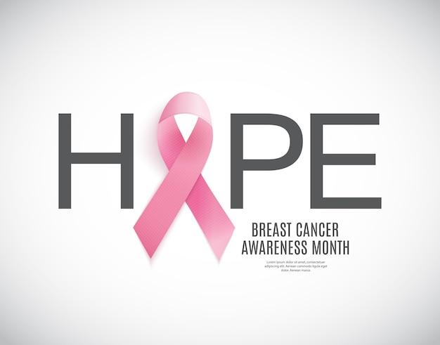 Różowa wstążka tło miesiąc świadomości raka piersi