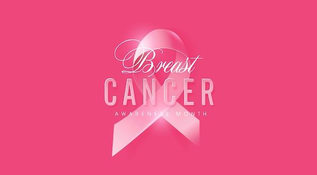 Różowa wstążka w październiku świadomości raka piersi