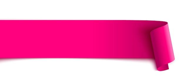 Różowa wstążka zwój papieru