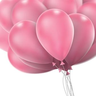Różowe błyszczące balony.