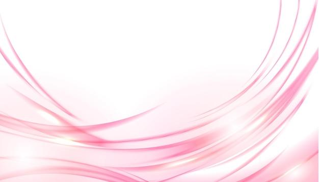 Różowe błyszczące faliste tło