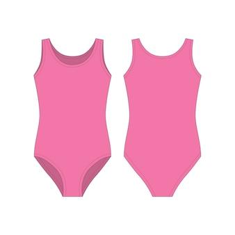 Różowe ciała nosić dla dziewcząt na białym tle. body damskie.